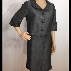 Ann Taylor Loft Gray Suit